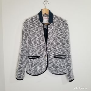 Anthropologie Tweed Lined One Button Blazer